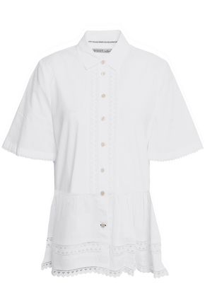 KATE SPADE New York Rick rack-trimmed cotton shirt