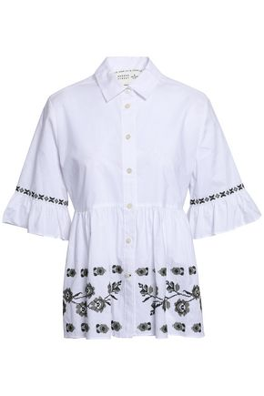 KATE SPADE New York Embroidered cotton shirt