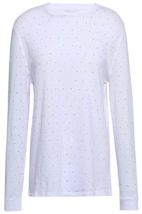 ZOE KARSSEN Embellished cotton-blend top