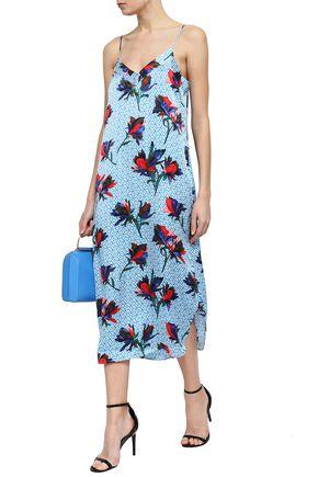 EQUIPMENT Printed silk midi slip dress