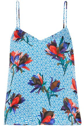 EQUIPMENT Printed silk camisole