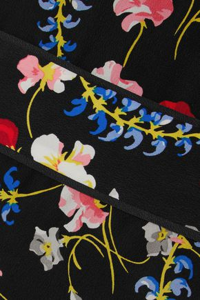 EQUIPMENT Floral-print silk crepe de chine midi wrap dress