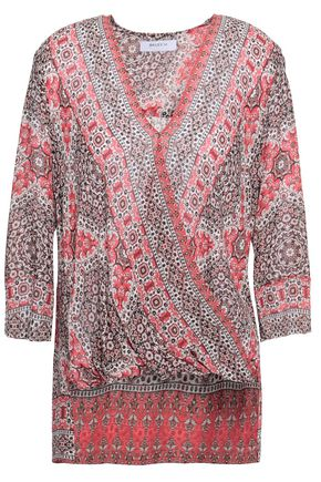 BAILEY 44 Printed crepe wrap top