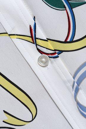 EQUIPMENT Printed washed-silk shirt