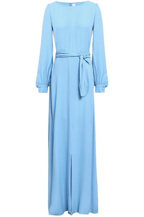 GOAT Belted crepe maxi dress