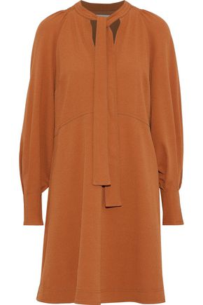 SEE BY CHLOÉ Pussy-bow washed-crepe dress