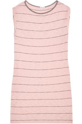 SPLENDID Striped slub Supima cotton-blend jersey dress