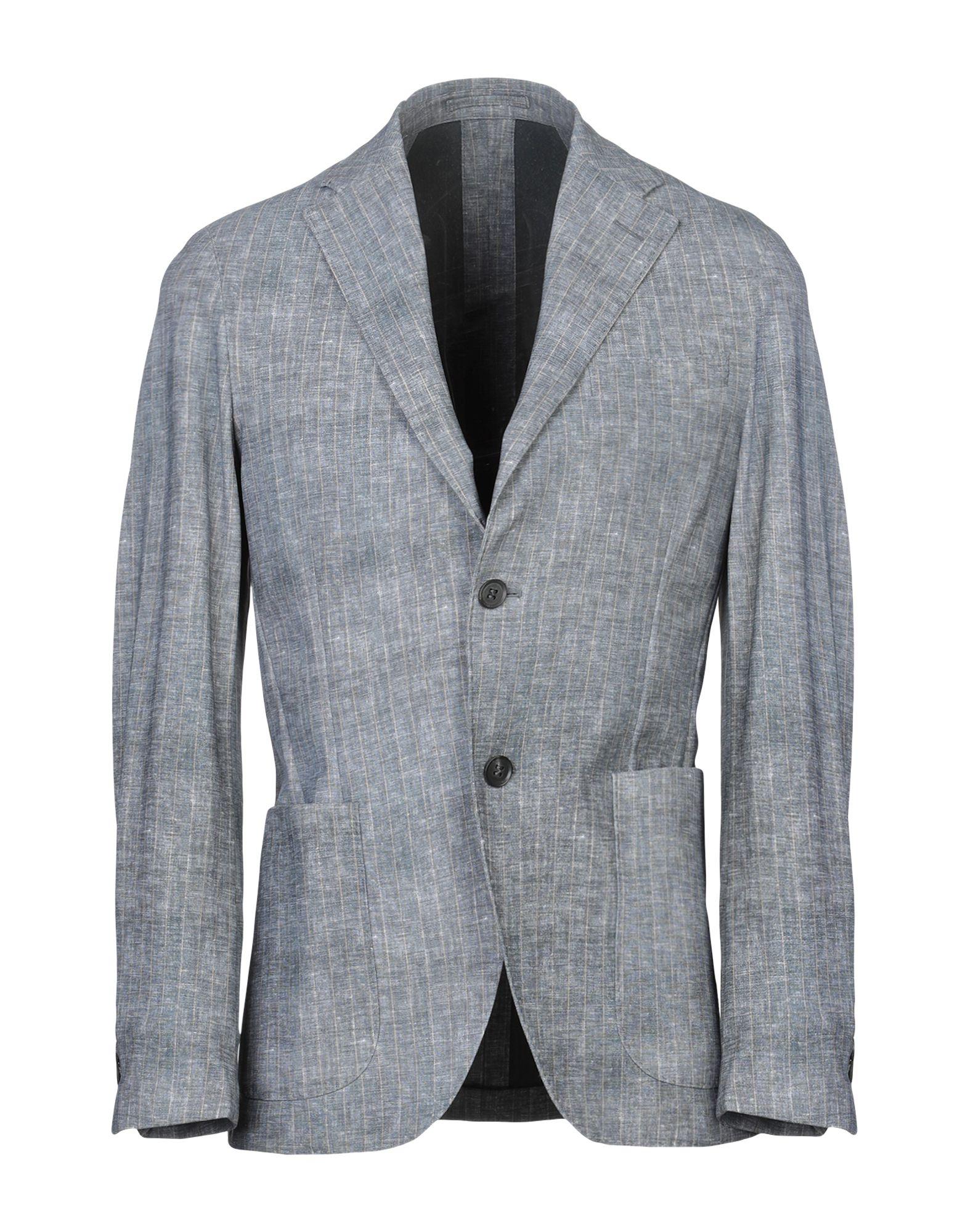 《セール開催中》TRAIANO メンズ テーラードジャケット グレー 48 ナイロン 73% / ポリウレタン 27%