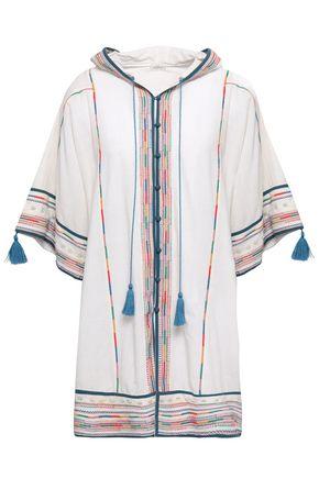 TALITHA Tasseled embroidered cotton kaftan
