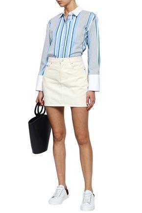 EQUIPMENT Striped cotton-twill shirt