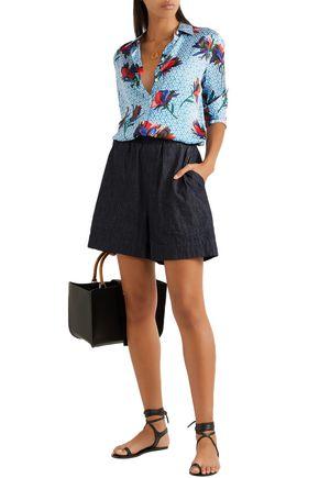 83858511080451 EQUIPMENT Essential floral-print washed-silk shirt