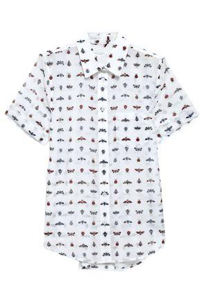 EQUIPMENT Printed cotton and silk-blend shirt