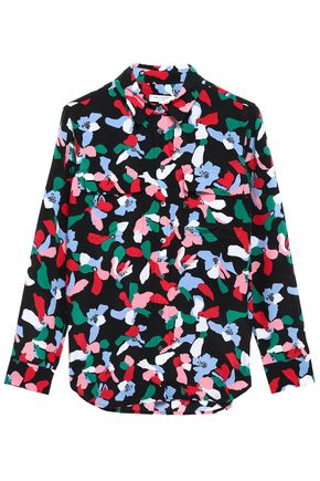 EQUIPMENT Printed silk crepe de chine shirt
