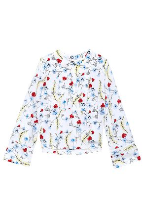 EQUIPMENT Floral-print washed-silk blouse