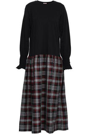 SHRIMPS Ellan cotton-jersey and jacquard midi dress