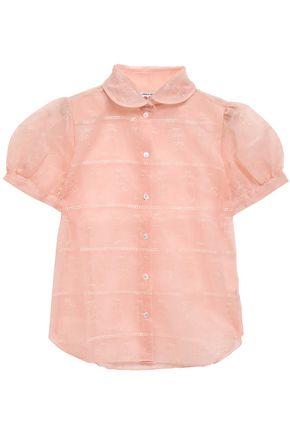 SHRIMPS Eugenie embroidered organza shirt