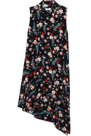 EQUIPMENT Asymmetric floral-print washed-silk shirt dress