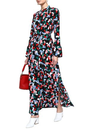 EQUIPMENT Britten belted printed washed-silk maxi dress