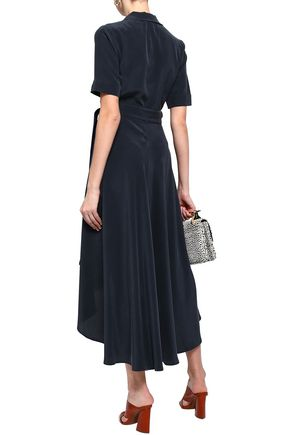 EQUIPMENT Belted silk crepe de chine midi dress