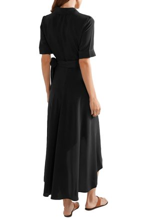 EQUIPMENT Silk crepe de chine midi wrap dress