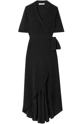 EQUIPMENT Silk crepe de chine midi wrap dress