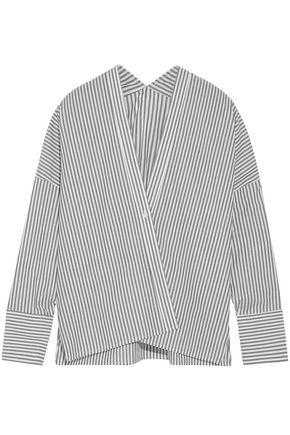 NILI LOTAN Striped cotton blouse