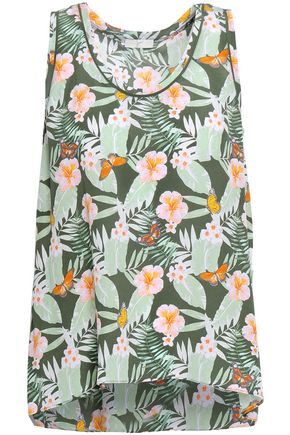 JOIE Erla floral-print silk tank