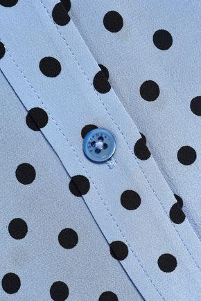 EQUIPMENT Polka-dot silk crepe de chine shirt