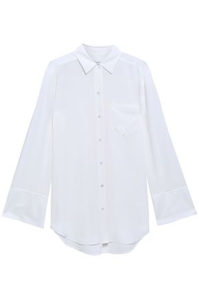EQUIPMENT Coco oversized silk crepe de chine shirt