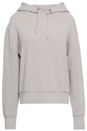 VINCE. Stretch cotton jersey hooded sweatshirt