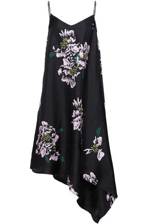 PAPER London Bento asymmetric floral-print silk-twill midi dress