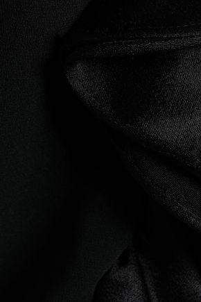 CINQ À SEPT Off-the-shoulder ruffle-trimmed crepe top