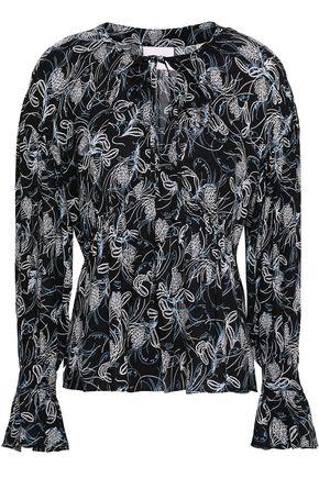 CINQ À SEPT Printed crepe blouse