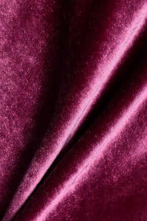 CINQ À SEPT Asymmetric velvet top