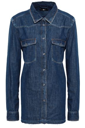 7 FOR ALL MANKIND Frayed denim shirt