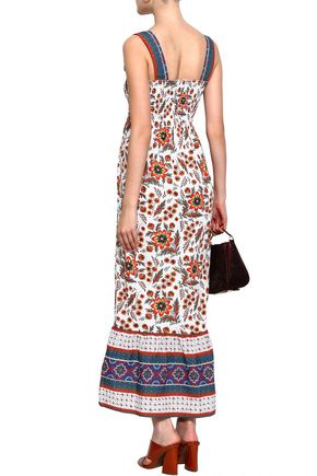 JOIE Printed cotton maxi dress