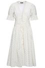 LOVE SAM Broderie anglaise cotton midi dress