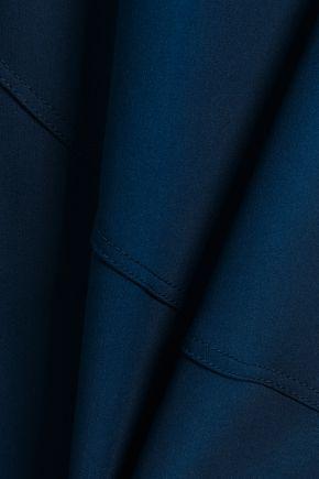 CINQ À SEPT One-shoulder ponte gown