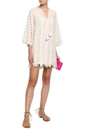 LOVE SAM Embellished cotton-blend mini dress