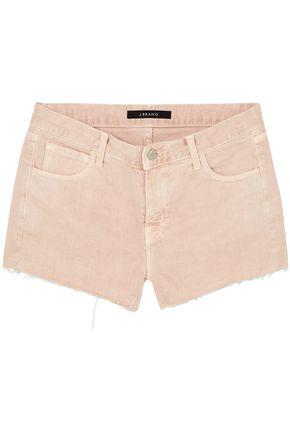 J BRAND Frayed denim shorts