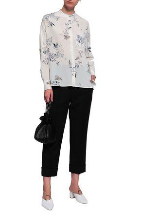 59139bb61eec5 VINCE. Floral-print silk crepe de chine shirt