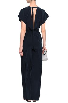Open Back Silk Crepe De Chine Jumpsuit by Vince.