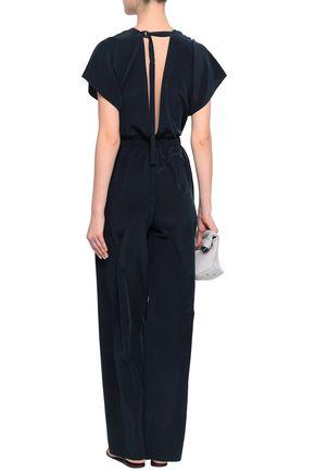 VINCE. Open-back silk crepe de chine jumpsuit