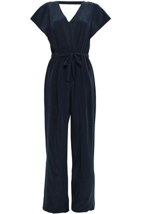 VINCE. Open-back silk crepe de chine jumpsuit