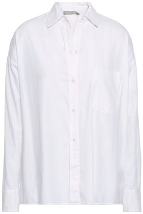 VINCE. Cotton and silk-blend shirt