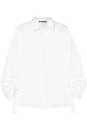 VINCE. Cotton-poplin shirt