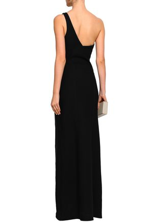 CINQ À SEPT One-shoulder ponte gown