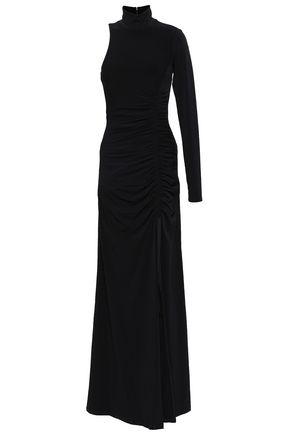 CINQ À SEPT Liza one-shoulder velvet maxi dress