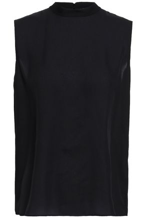 VINCE. Silk-voile top