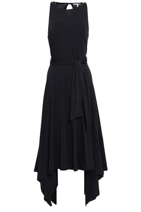 JOIE Belted Pima cotton-jersey midi dress